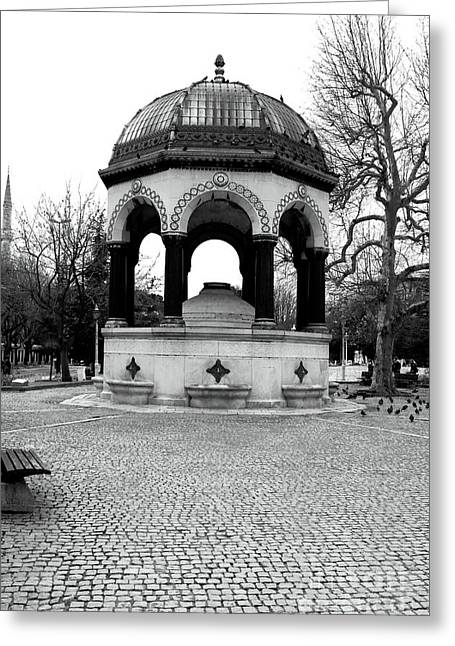 Sultanhmet Greeting Cards - Hippodrome Fountain Greeting Card by John Rizzuto