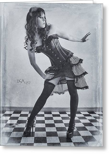 Steampunk Greeting Cards - Hips Cocked Greeting Card by David April
