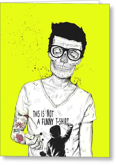 Hipster Greeting Cards - Hipsters Not Dead Greeting Card by Balazs Solti