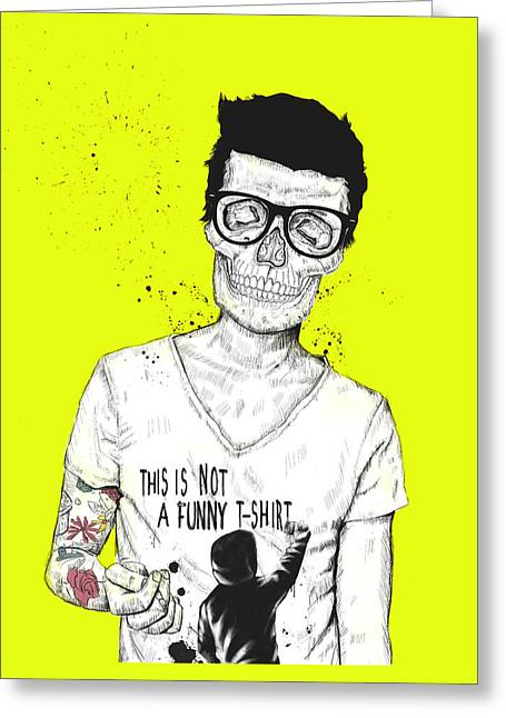 Skull Drawings Greeting Cards - Hipsters Not Dead Greeting Card by Balazs Solti
