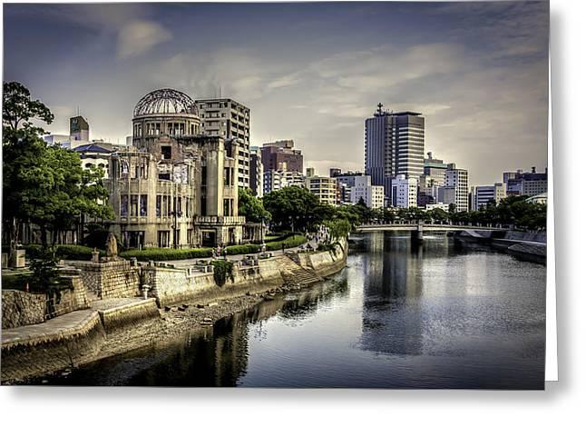 Hiroshima Greeting Card by Gary Fossaceca