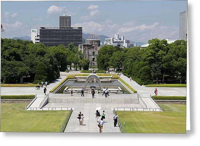 Hiroshima Peace Memorial Park Greeting Card by Sam Garcia
