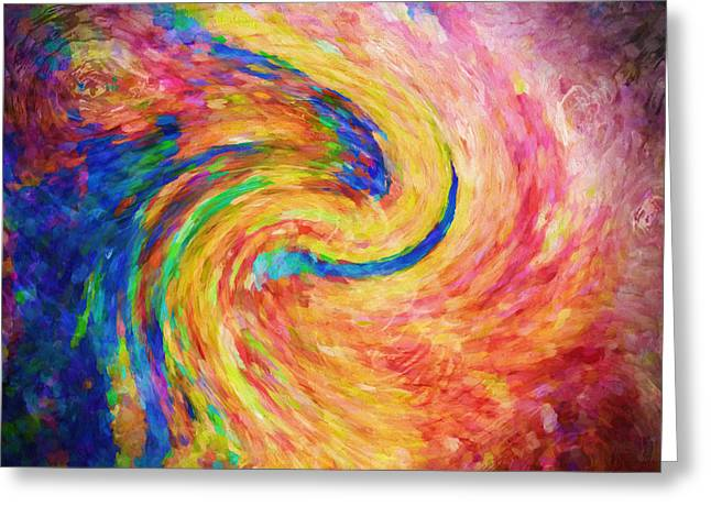 Romanovna Greeting Cards - His And Hers Abstract Greeting Card by Georgiana Romanovna