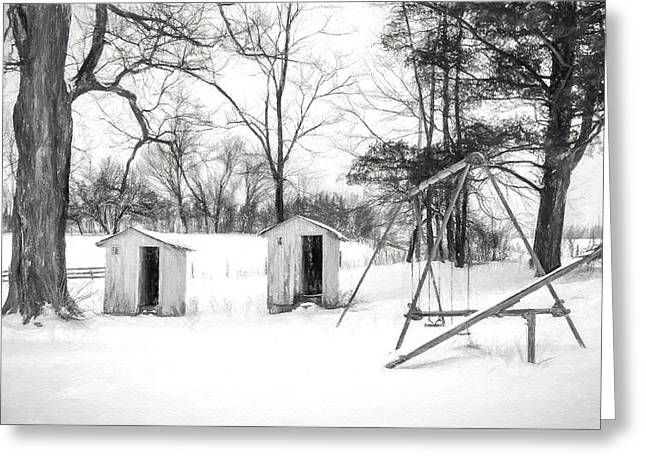 Charcoal Photographs Greeting Cards - His and Hers - Charcoal  Greeting Card by Chris Bordeleau