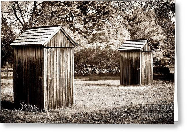 Old School Galleries Greeting Cards - His and Hers Greeting Card by John Rizzuto