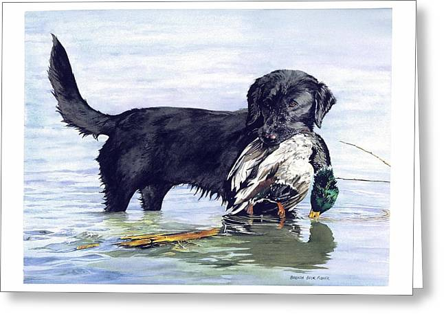 His First Catch Greeting Card by Brenda Beck Fisher