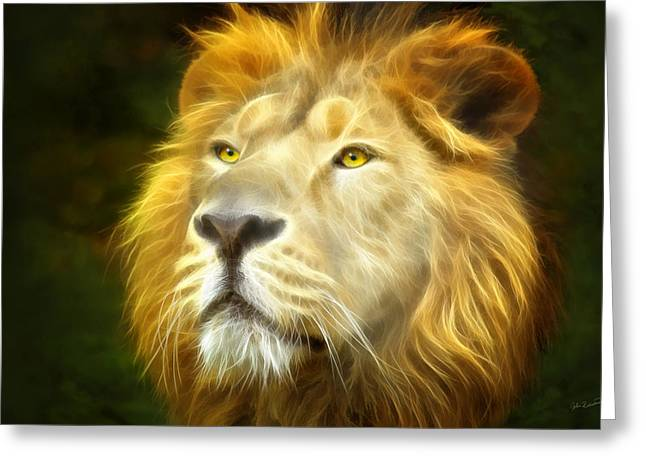 King Of Beast Prints Greeting Cards - His Majesty Greeting Card by John Robichaud