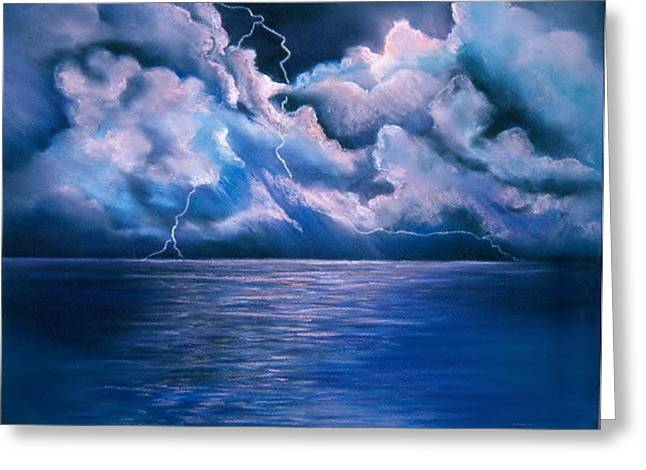 Stormy Weather Pastels Greeting Cards - His Majesty Greeting Card by Liz Evensen