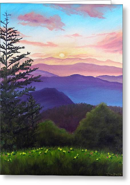 Recently Sold -  - Gatlinburg Tennessee Greeting Cards - His Mercies Are New Every Morning Greeting Card by Joan Swanson