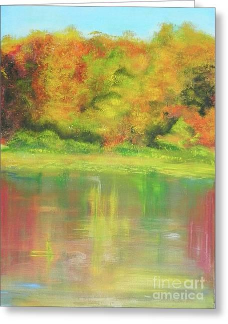Brook Mixed Media Greeting Cards - His Splendor Greeting Card by Susan  Toler