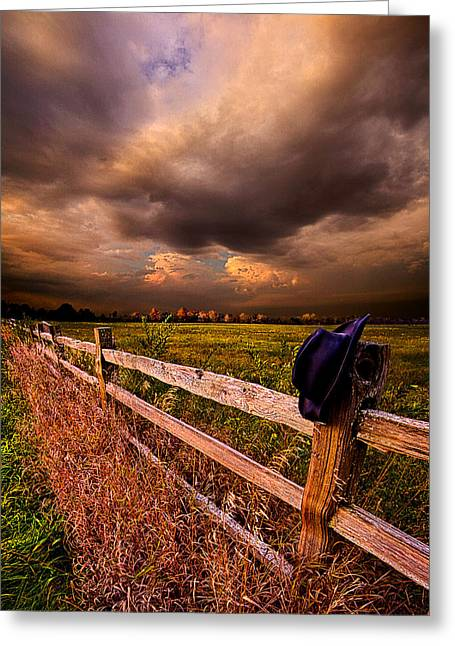 Cowboy Hat Photographs Greeting Cards - His Thoughts Were His Only Companions Greeting Card by Phil Koch