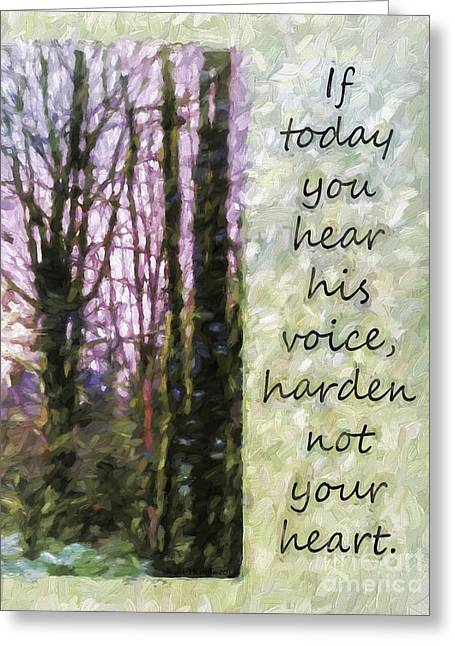 Texting Greeting Cards - His Voice Greeting Card by Jean OKeeffe Macro Abundance Art