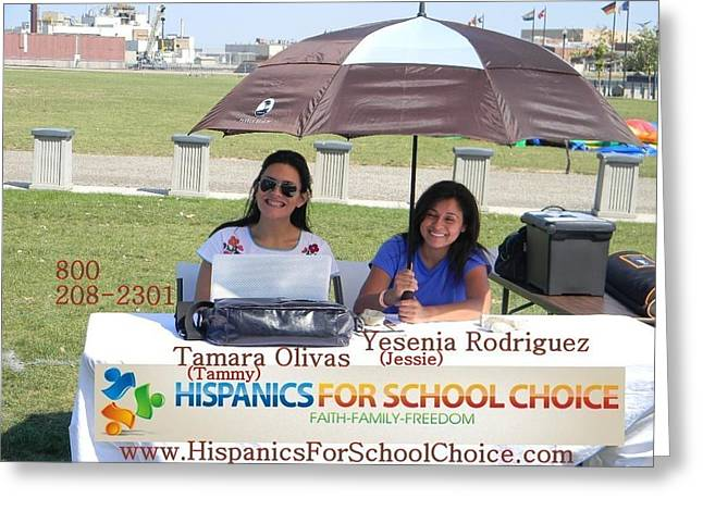 Leicht Greeting Cards - Hispanics For School Choice Greeting Card by James  Murphy