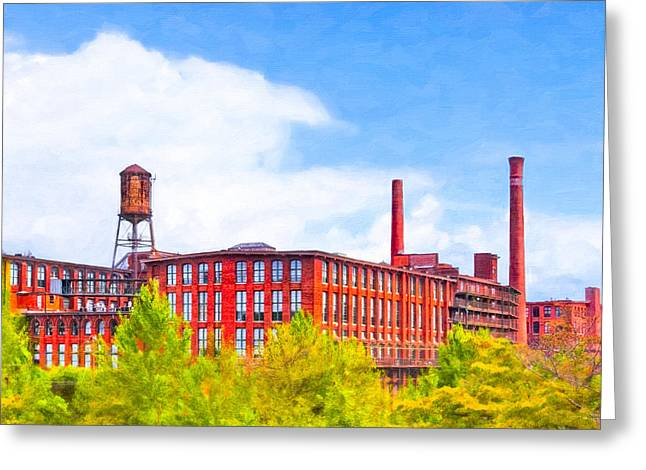 Old And Beautiful Greeting Cards - Historic Atlanta - Fulton Cotton Mill Greeting Card by Mark Tisdale