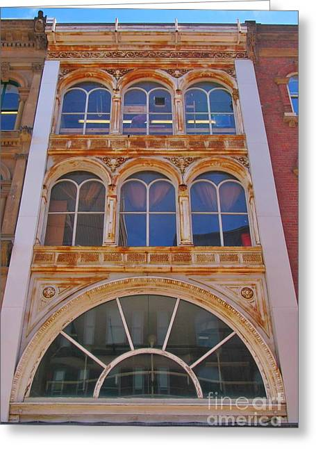 Art In Halifax Greeting Cards - Historic Building Facade in Halifax Nova Scotia Greeting Card by John Malone
