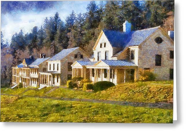 Lewis Gun Greeting Cards - Historic Buildings Fort Columbia Greeting Card by Kaylee Mason