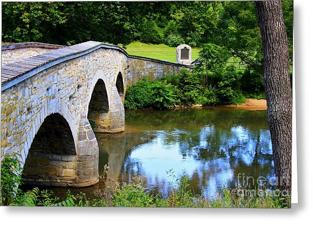 Civil War Battle Site Greeting Cards - Historic Burnside Bridge Greeting Card by Patti Whitten