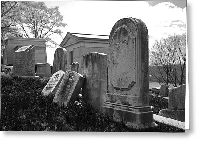Grave Greeting Cards - Historic Cemetery Greeting Card by Jennifer Lyon