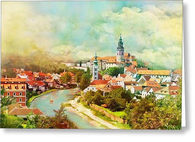 The Church Greeting Cards - Historic Centre of Cesky Krumlov Greeting Card by Catf