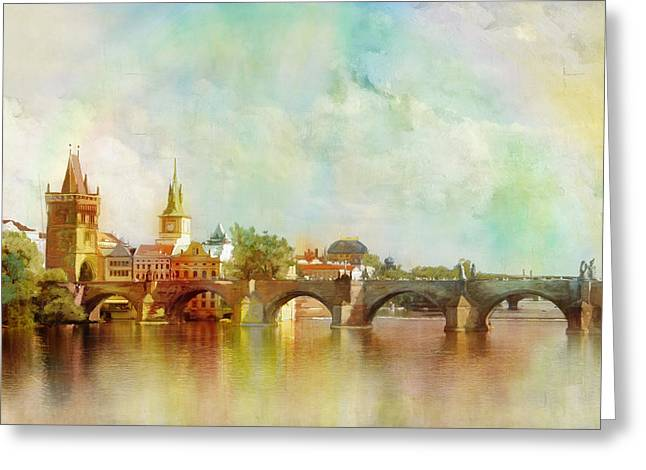 The Church Greeting Cards - Historic Centre of Prague  Greeting Card by Catf