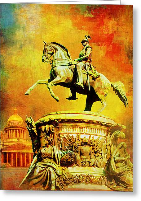 Sergius Greeting Cards - Historic Centre of Saint Petersburg and Related Groups of Monuments Greeting Card by Catf