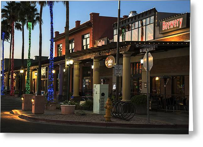 Chandler Greeting Cards - Historic Chandler Az Downtown Boardwalk Greeting Card by Dave Dilli