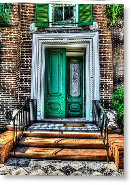 Recently Sold -  - Lions Greeting Cards - Historic Charleston SC Door Greeting Card by Dale Powell