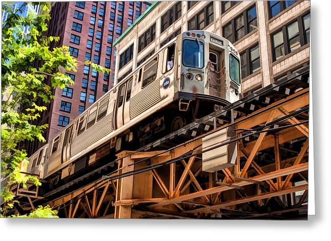 Chicago Landmark Greeting Cards - Historic Chicago El Train Greeting Card by Christopher Arndt