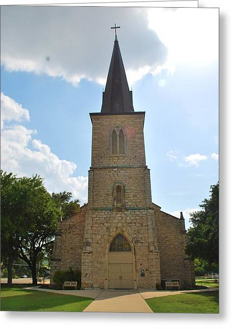 Historic Church In Texas Greeting Card by Richard Jenkins