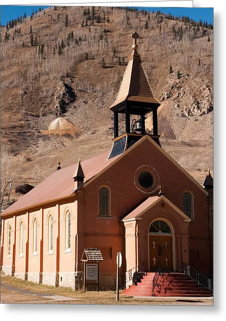 Mining Photos Greeting Cards - Historic Church Silverton Colorado Greeting Card by Robert Ford
