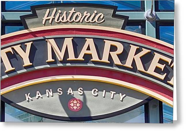 Liane Wright Greeting Cards - Historic City Market Sign  Greeting Card by Liane Wright