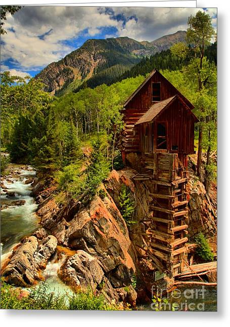 Water Powered Generator Greeting Cards - Historic Colorado Greeting Card by Adam Jewell