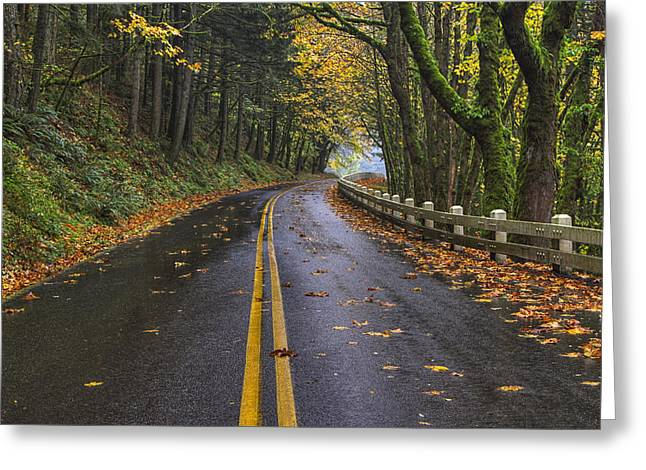 Scenic Drive Photographs Greeting Cards - Historic Columbia River Highway Greeting Card by Mark Kiver