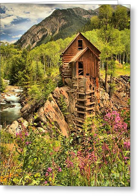 Water Powered Generator Greeting Cards - Historic Crystal Colorado Greeting Card by Adam Jewell