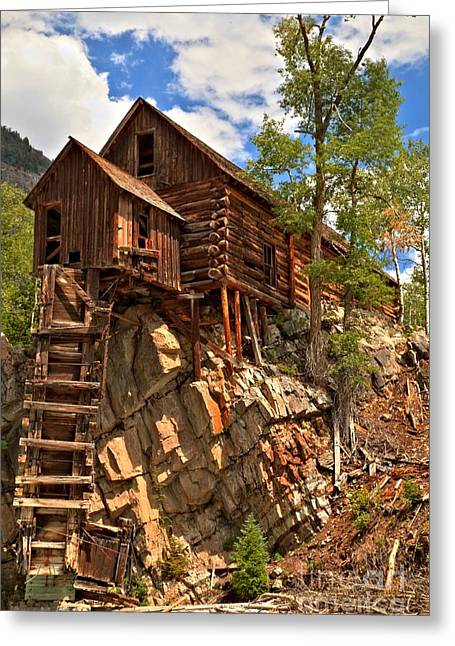 Water Powered Generator Greeting Cards - Historic Crystal Mill Greeting Card by Adam Jewell