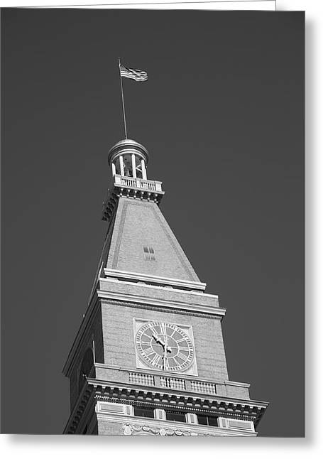 Historic Home Greeting Cards - Historic D  F Clocktower - Denver Greeting Card by Frank Romeo