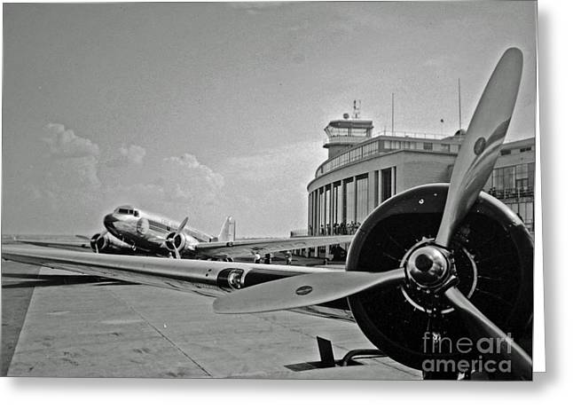 Eal Greeting Cards - Historic Eastern Airlines DCA Greeting Card by Jost Houk