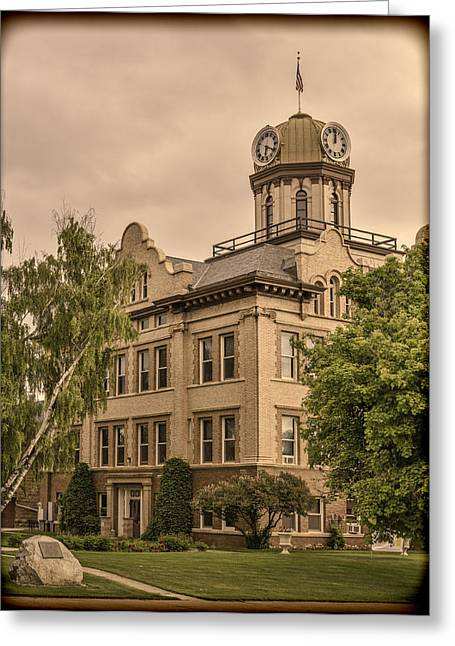 Historic Fergus County Courthouse Greeting Card by Thomas Young
