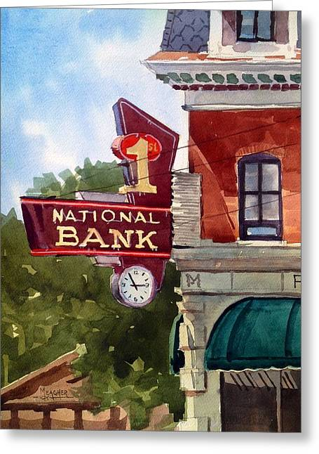 Spencer Meagher Greeting Cards - Historic First National Greeting Card by Spencer Meagher