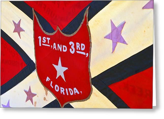 Confederate Flag Greeting Cards - Historic Florida flag Greeting Card by David Lee Thompson