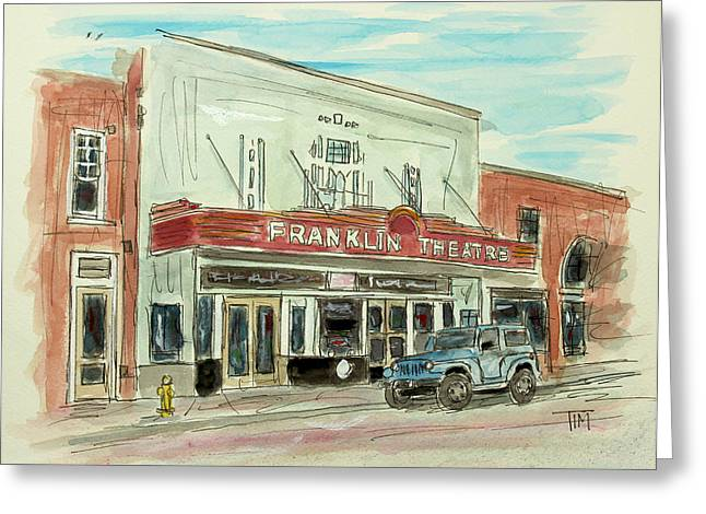 Historic Franklin Theatre Greeting Card by Tim Ross