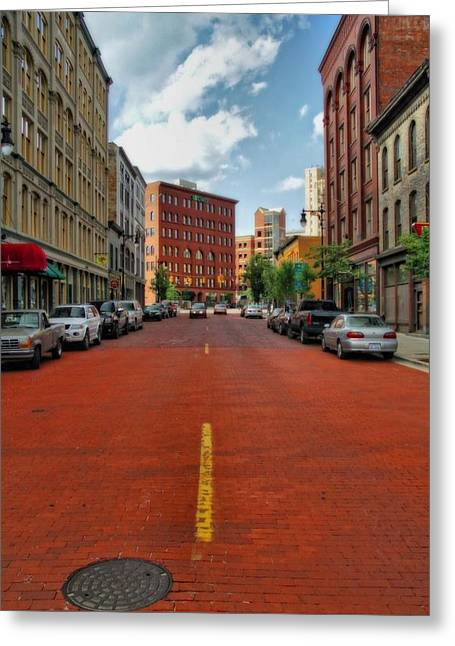 Parked Cars Greeting Cards - Historic Grand Rapids Michigan Greeting Card by Dan Sproul