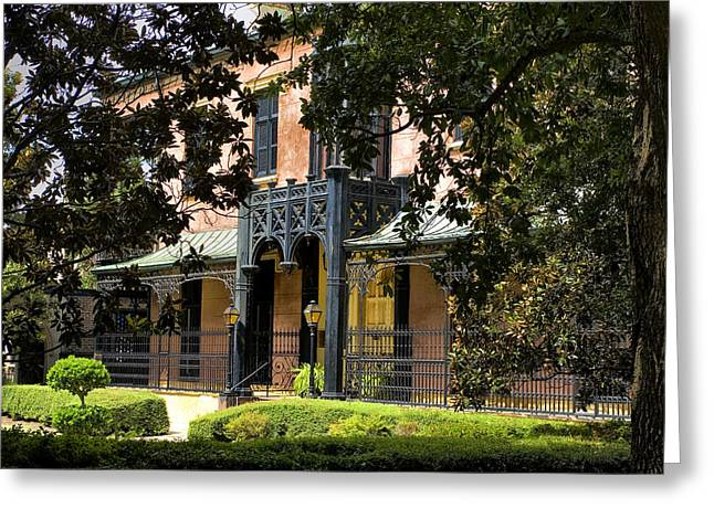 Juliette Low Greeting Cards - Historic Green-Meldrim House Greeting Card by Diana Powell