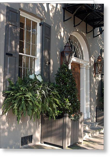 Charleston Greeting Cards - Historic Home - Charleston Greeting Card by Suzanne Gaff