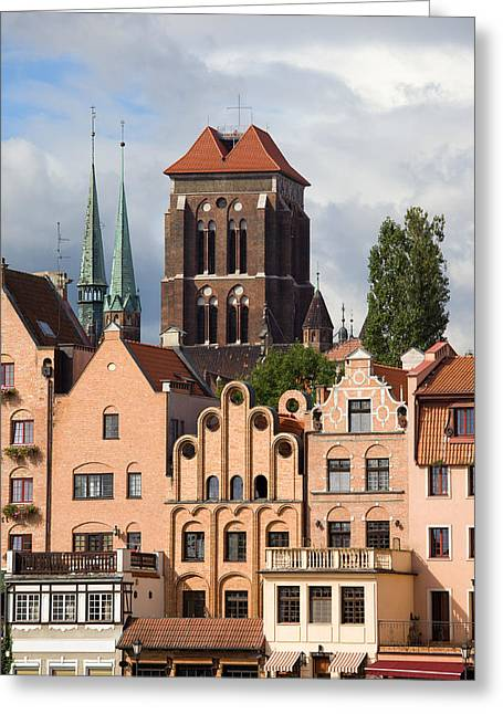Polish Old Town Greeting Cards - Historic Houses in Gdansk Greeting Card by Artur Bogacki