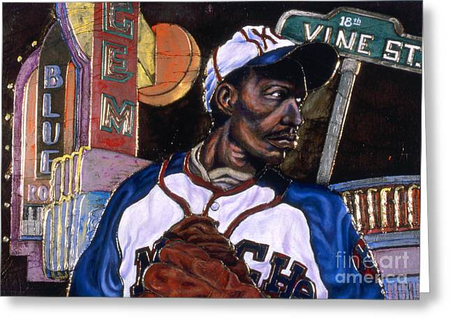 Baseball Uniform Paintings Greeting Cards - Historic Kansas City Greeting Card by Anthony High