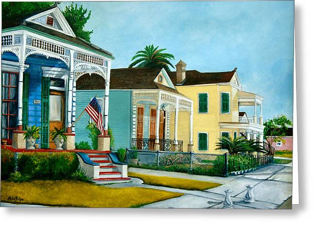 Historic Home Paintings Greeting Cards - Historic Louisiana Homes Greeting Card by Elaine Hodges