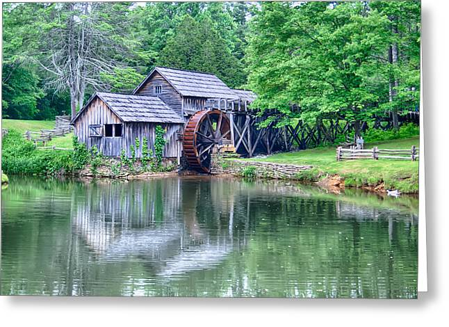 Grist Mill Greeting Cards - Historic Mabry Mill in rural Virginia Greeting Card by Alexandr Grichenko