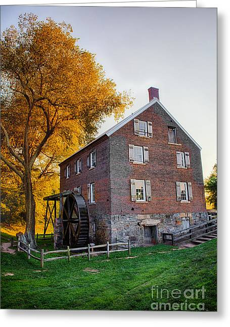 Grist Mill Greeting Cards - Historic Mill - Kerr Mill I Greeting Card by Dan Carmichael