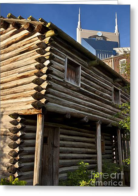 Log Cabins Greeting Cards - Historic Nashville Greeting Card by Brian Jannsen